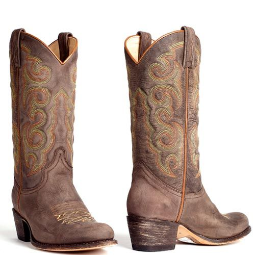 Sendra boots 13549 with a touch of orange | Cowboylaars