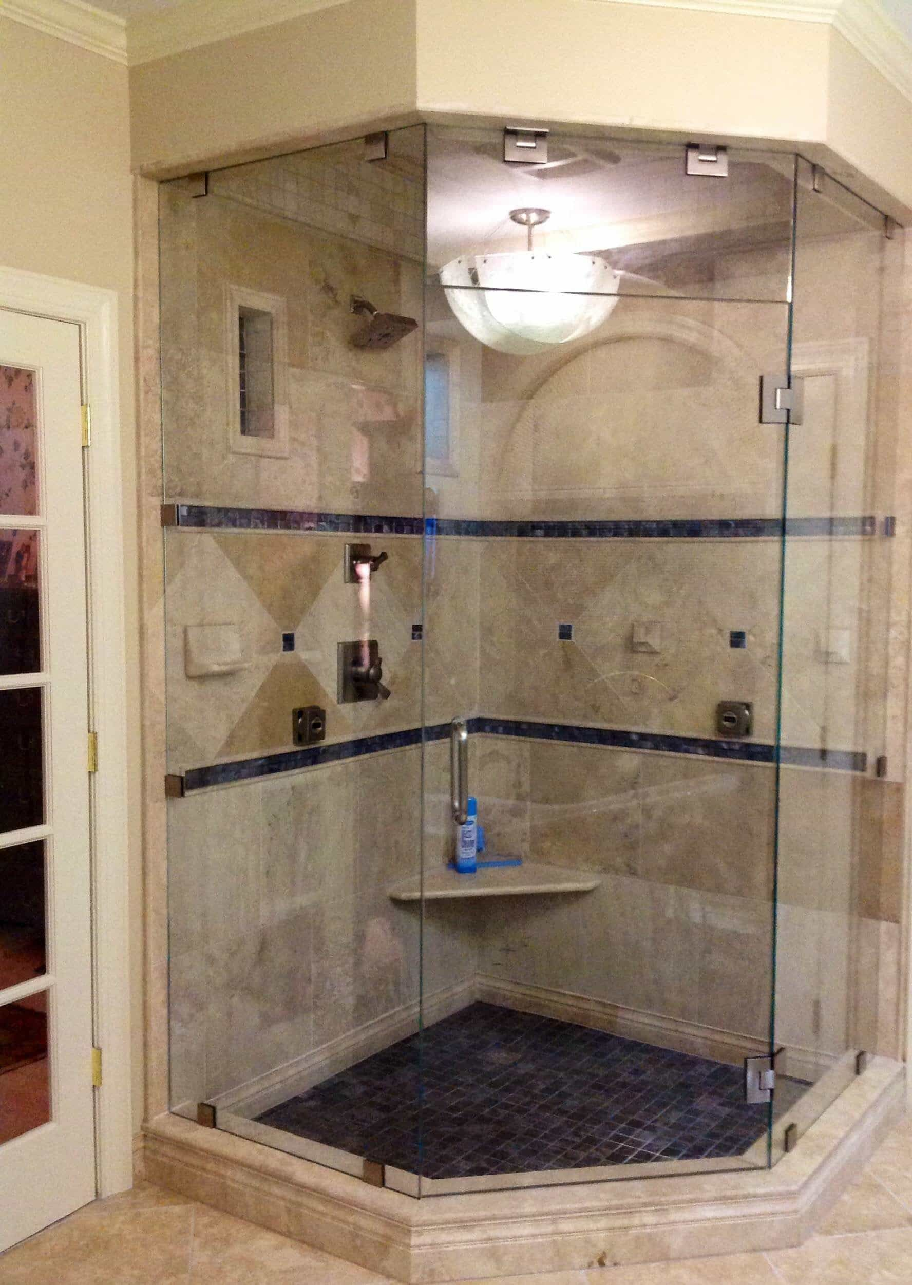 Bathroom neo angle shower stall