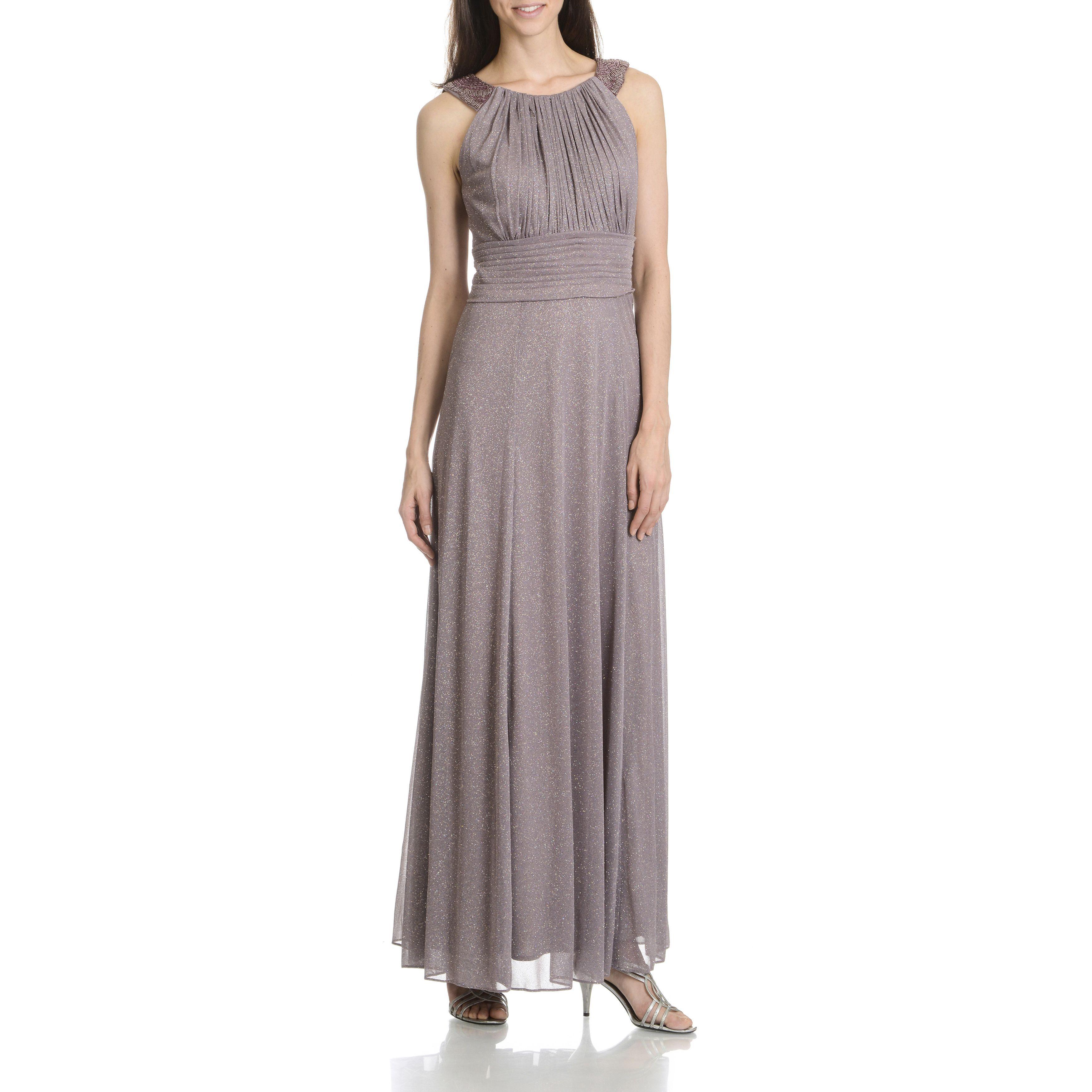 9cd9566a852 Cachet Women s Glitter Mesh Beaded Sleeveless Evening Gown ...
