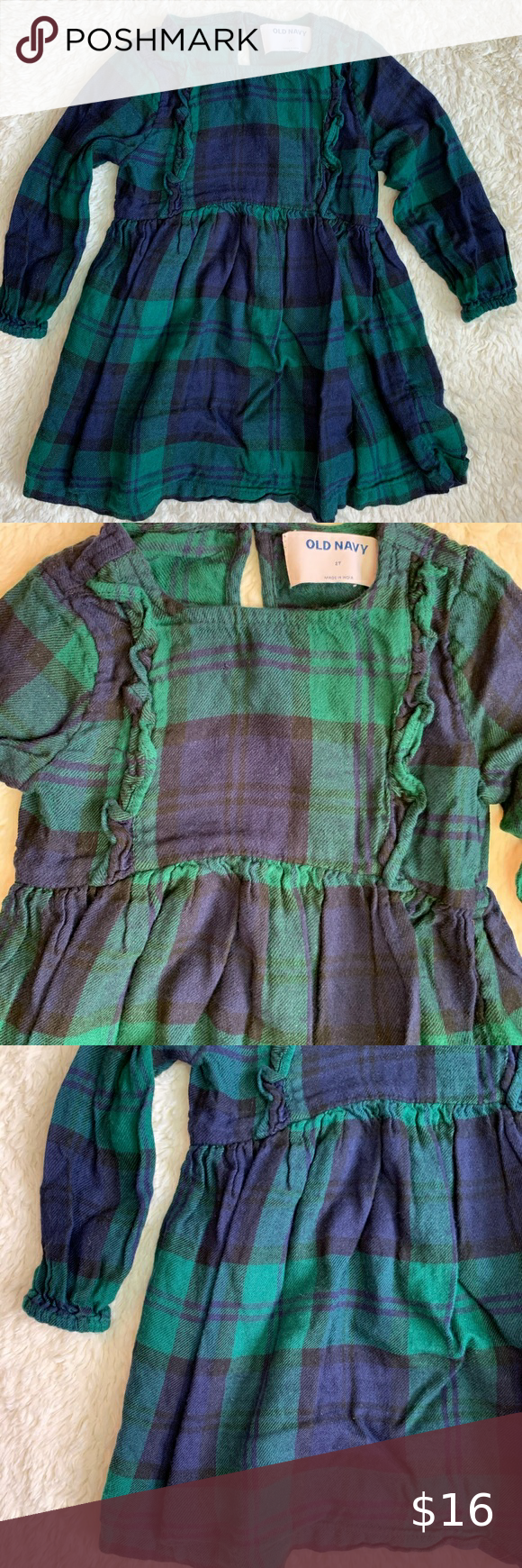 Navy Blue And Green Plaid Dress From Old Navy Green Plaid Dress Plaid Dress Green Plaid [ 1740 x 580 Pixel ]