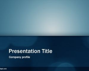 Email Newsletter PowerPoint template is a free blue PPT template ...