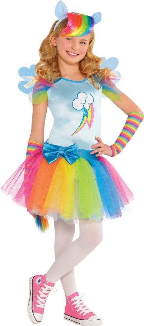 Girls rainbow dash costume my little pony party city halloween halloween fun girls rainbow dash costume my little pony party city solutioingenieria Images