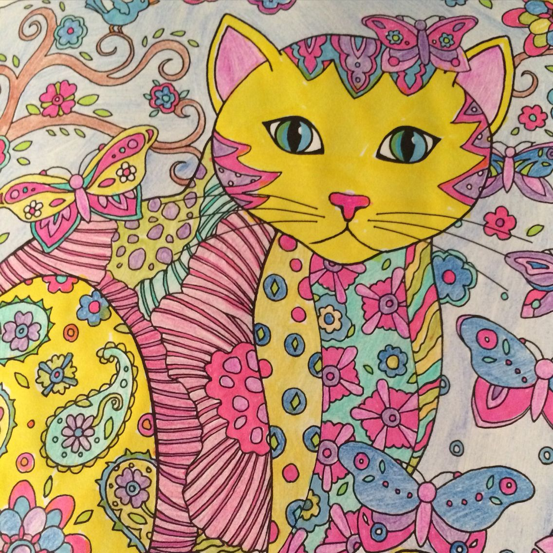 Color cats like - Cat Coloring Pages Free Sample Join Fb Grown Up Coloring Group