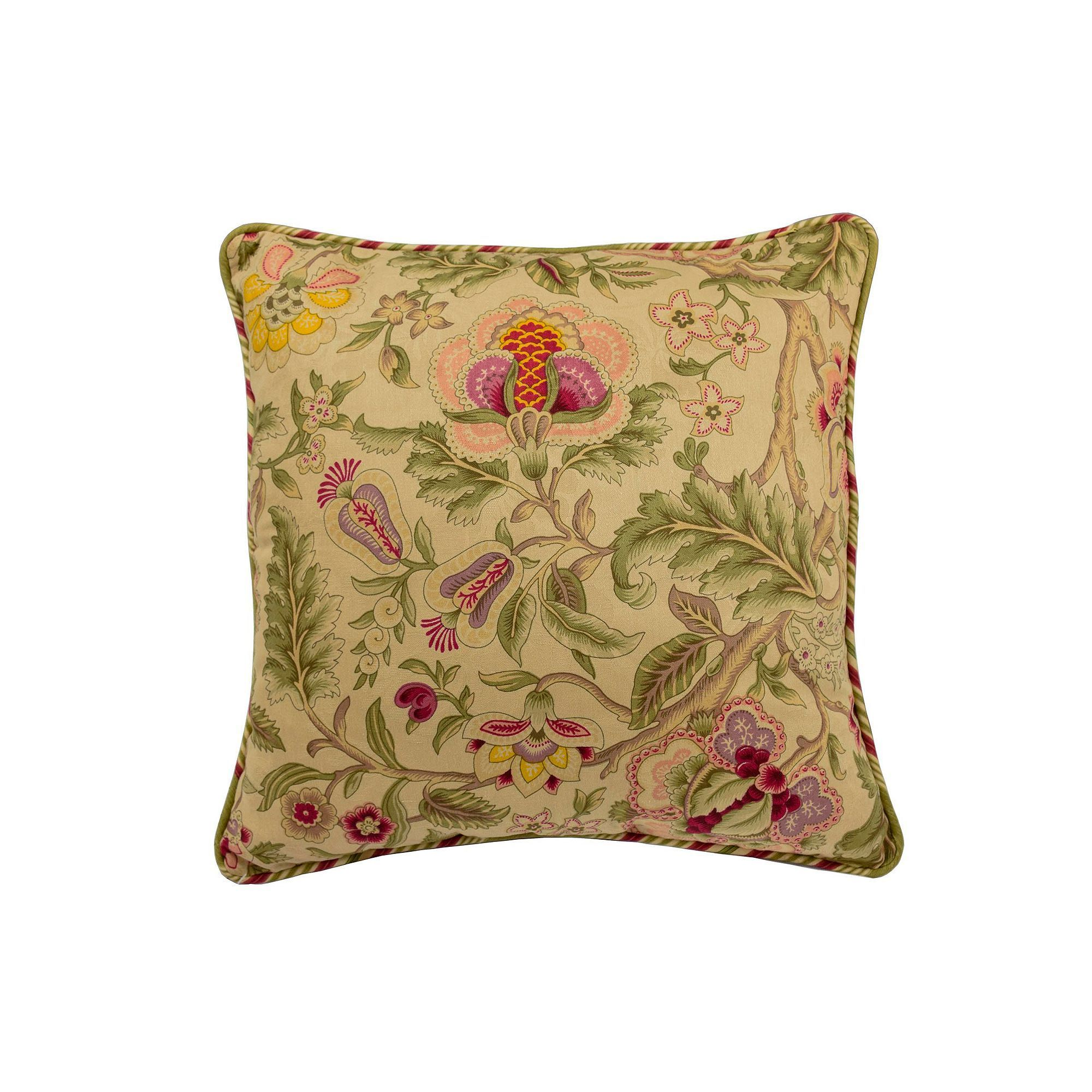 Blue Floral Vintage Waverly Decorative Pillow Cover Throw Pillow Toss Pillow Both Sides All Sizes Available