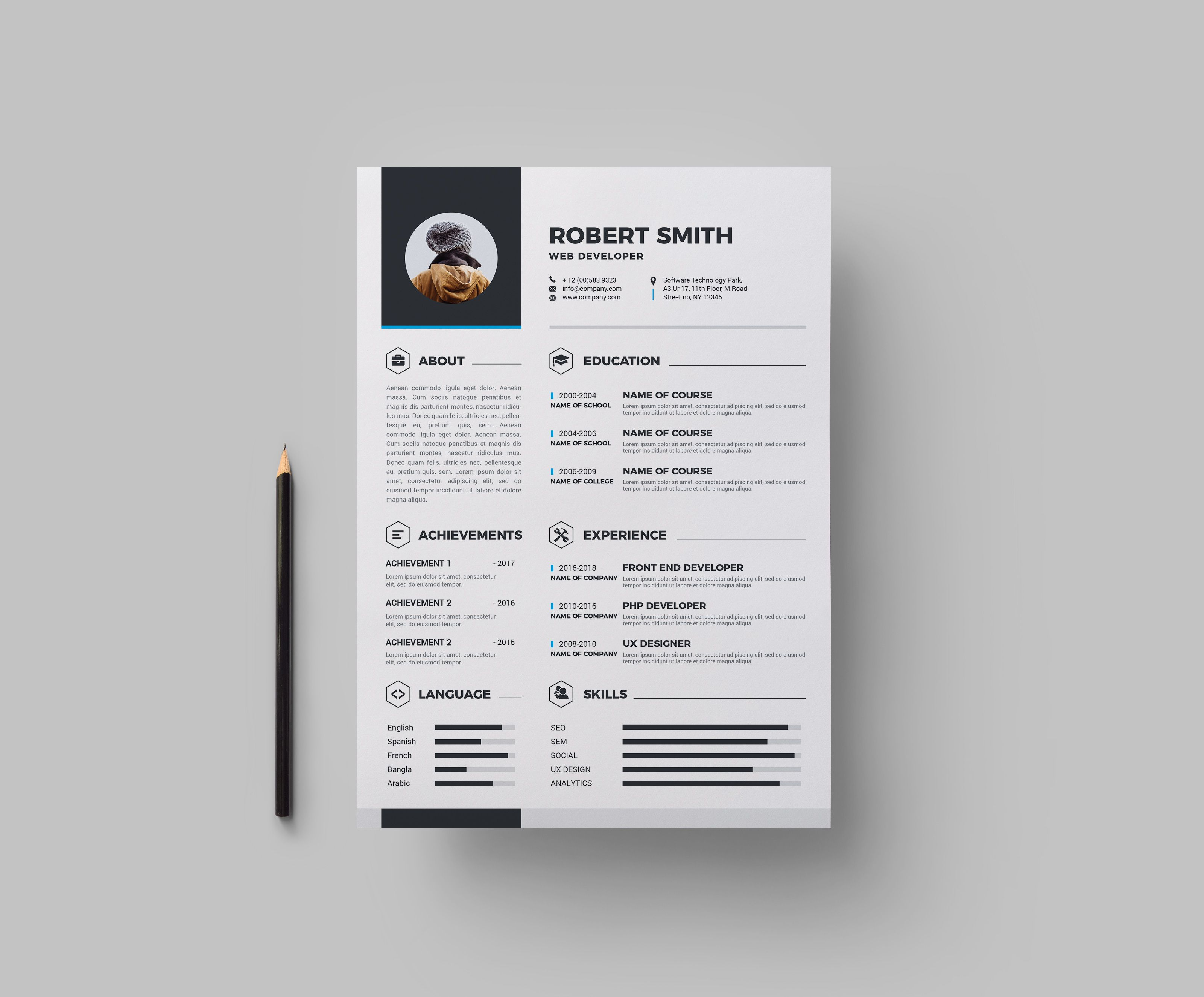 Halley Premium Resume Template - Resume design template, Resume templates, Resume template, Resume design, Templates, Resume - Halley Premium Resume Template  The perfect way to make the best impression  Strong typographic structure and very easy to use and customize    The resume have a very organized