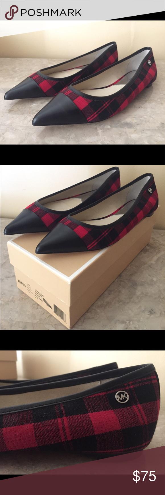 eeef7588b632 NEW  110 Michael Kors Pointed Toe Flats Shoes 100% Authentic Michael Kors  Philippa Ballet Flats