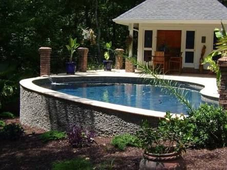 Image Result For Pools In Sloped Backyards Sloped Backyard