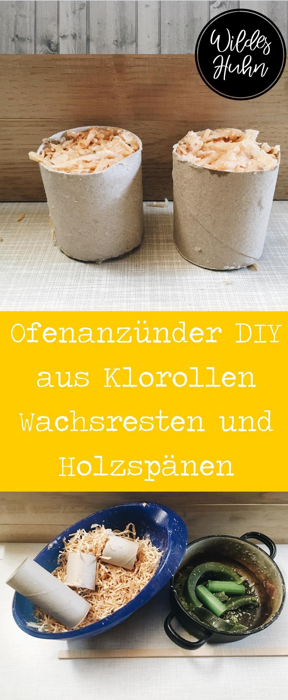ofen- und grillanzünder diy anleitung aus klorollen, wachsresten und