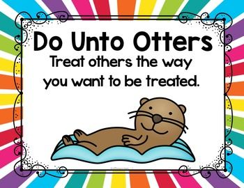 Do Unto Otters Free Manners Posters School Do Unto