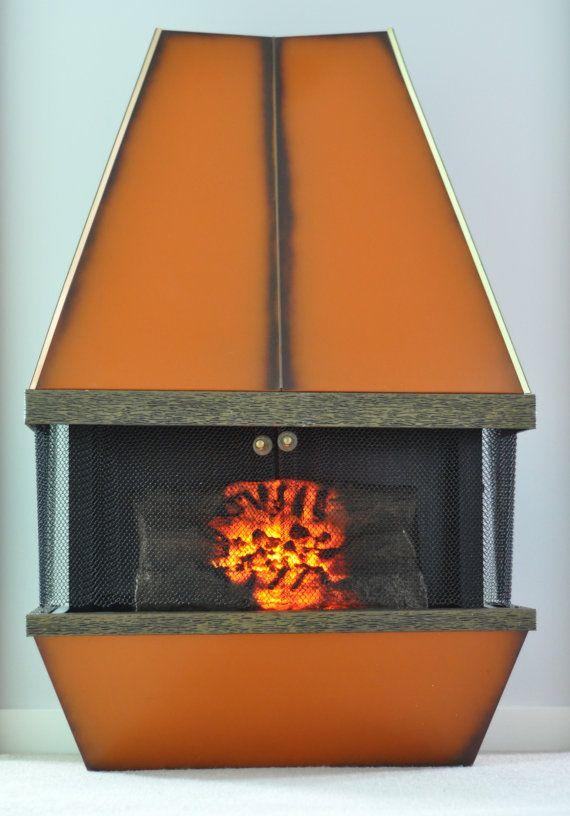 Mid Century Electric Fireplace Orange Retro 1970s Vintage Dyna Flame Heater Electric Fireplace Fireplace Best Electric Fireplace