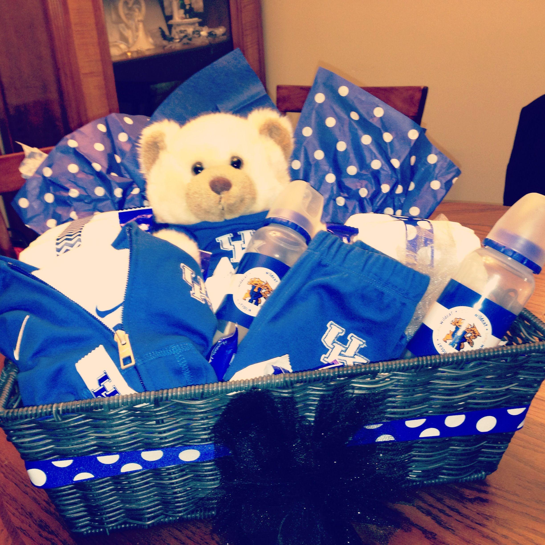 Baby Gift Baskets Uk : Kentucky wildcats baby basket uk gift boy my diy