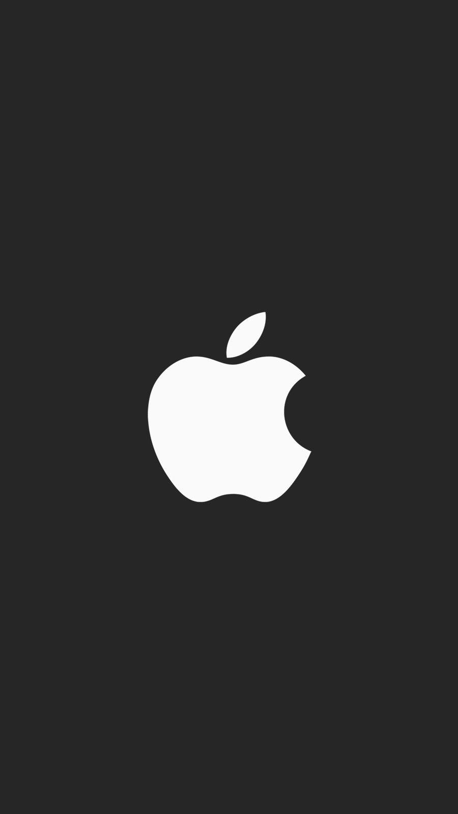Apple minimal logo black iPhone Wallpaper(画像あり) Iphone7