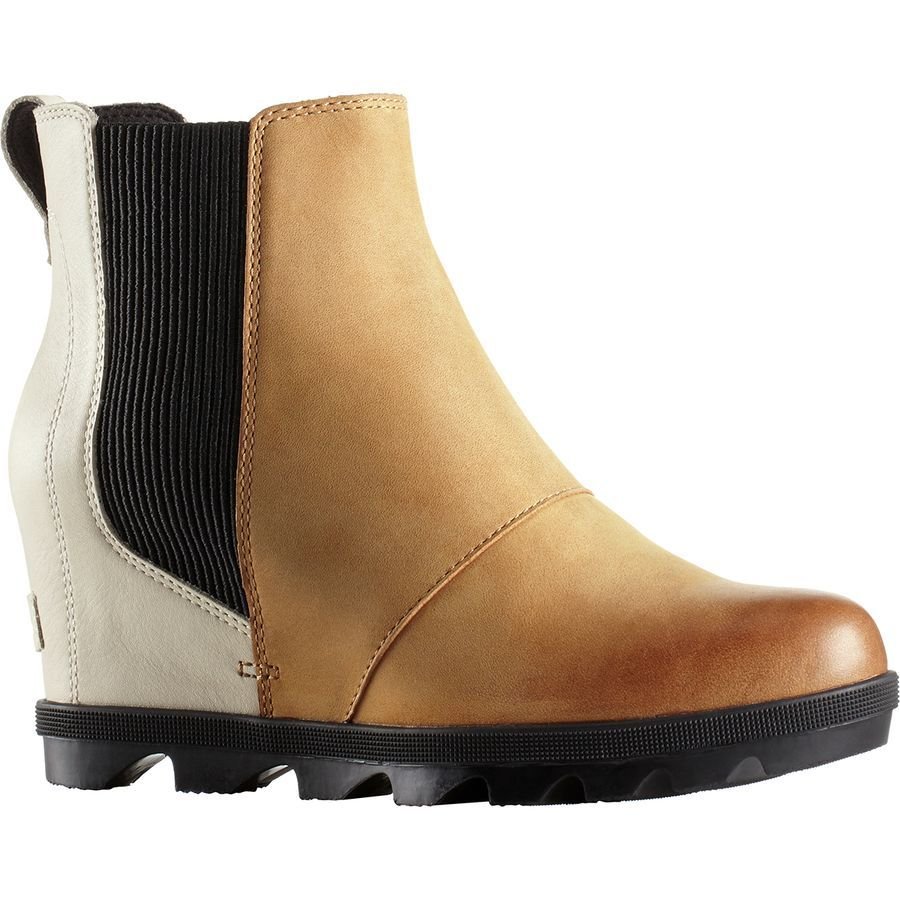 ab461df17cb Sorel - Joan of Arctic Wedge II Chelsea Boot - Women's - Camel Brown Color  Block