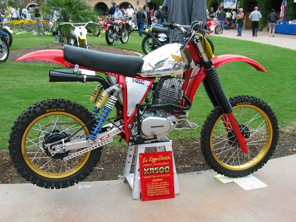 1978/79 Honda XR500 motor tucked into a custom frame and heavily ...