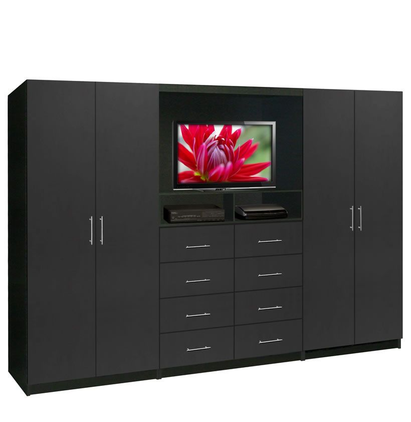 Aventa Tv Wall Unit For Bedrooms Free Standing Bedroom Wardrobe