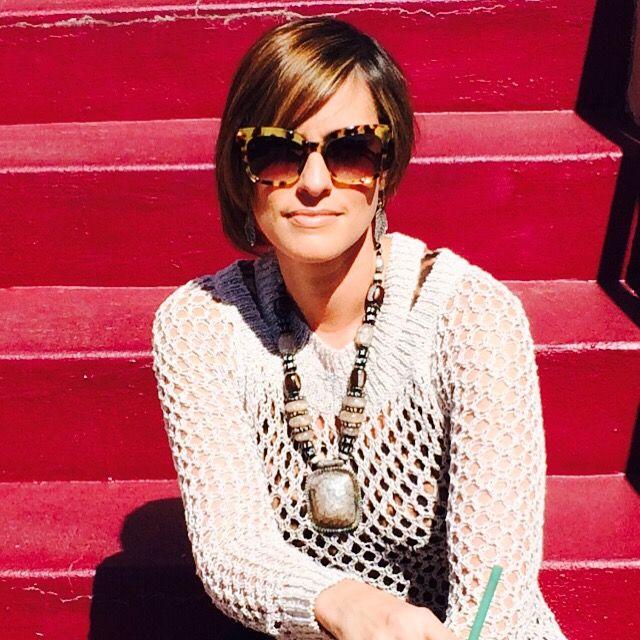 Enjoying a nice summer day! Prada sunglasses, AllSaints top. #fashionista#prada#allsaints