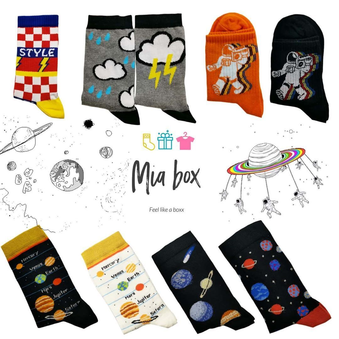 Enjoy the experience of shopping the funiest socks in Jordan ????????from Mia Box ???? . Socks