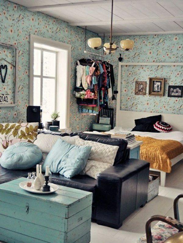 einzimmerwohnung einrichten tolle und praktische einrichtungstipps wohnung pinterest. Black Bedroom Furniture Sets. Home Design Ideas