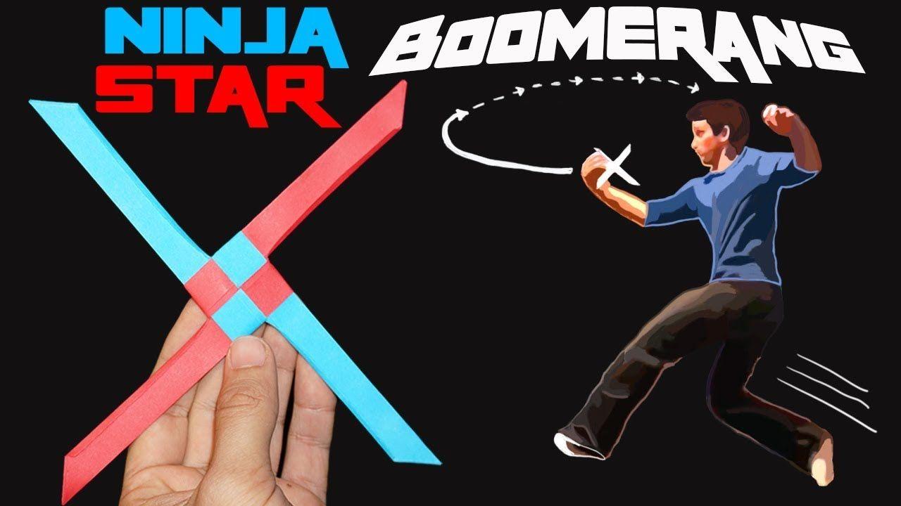 The EPIC Ninja Star Boomerang! (Amazing Origami/Paper Toy