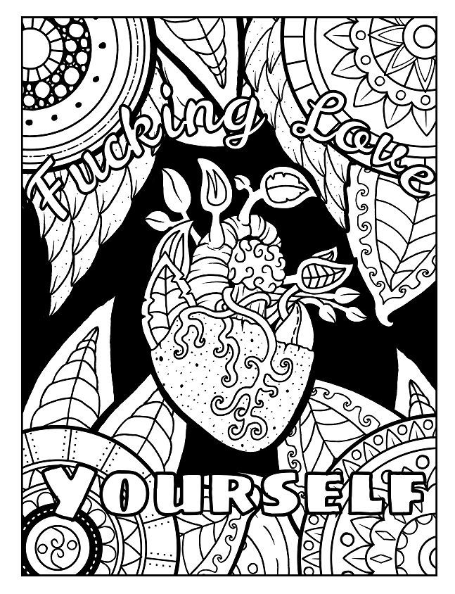 Pin On Coloring Crude Sweary Coloring