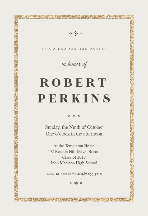 elegant gold invitation template customize add text and photos