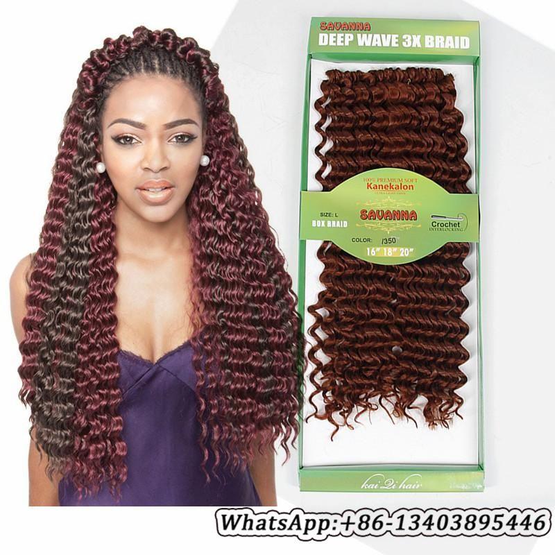 Synthetic Crochet Hair Deep Wave 3x Savanna Crochet Braids Hair
