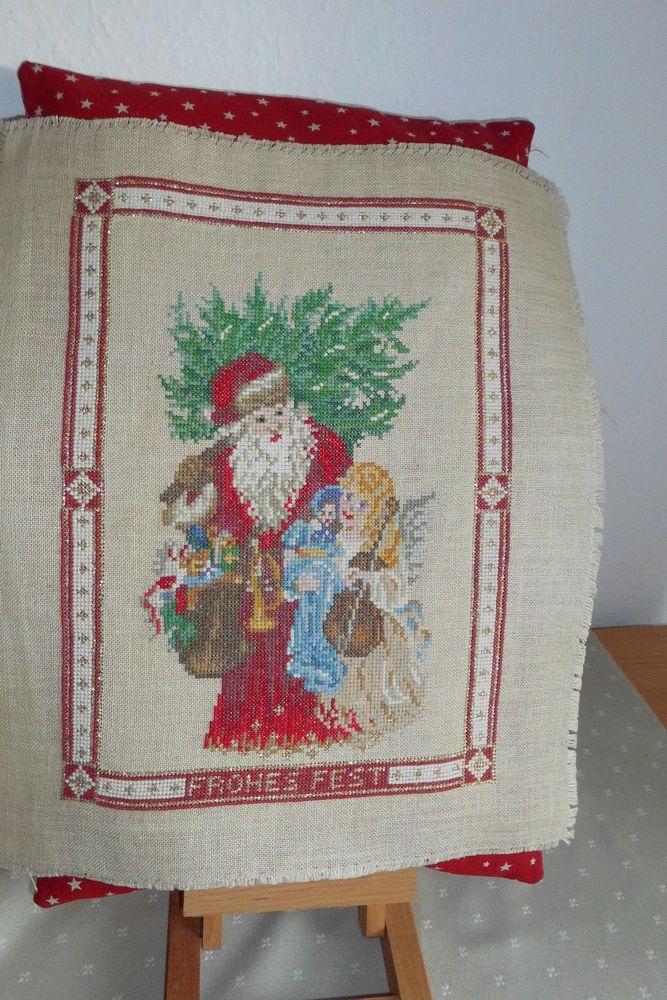 Frohes Fest Christkind Fremme acufactum Point de Croix Advent ...