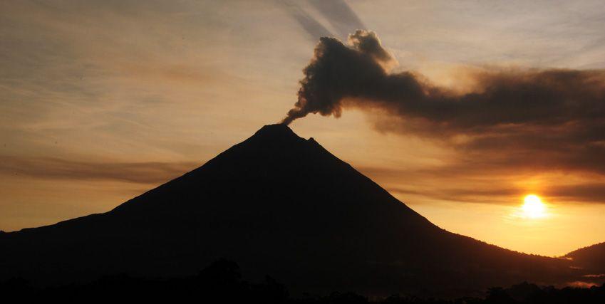 Arenal Volcano Costa Rica At Sunrise