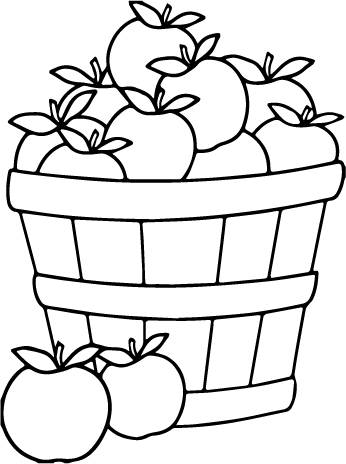 Apple Bushel Svg File Svg Designs Svgdesigns Com Apple Coloring Pages Fall Coloring Sheets Apple Coloring