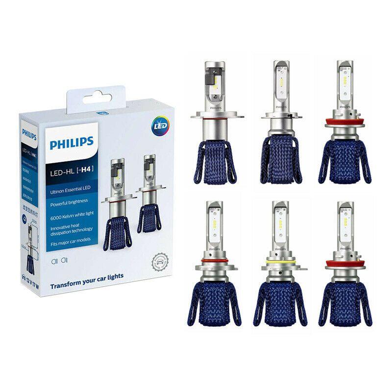 Philips Kit Led Ultinon Esencial Led De 6000 K 12 V H4 H7 H11 Hb3 Hb4 H1r2 9005 Unbranded Led Bombillas Led Lampara De Cabeza