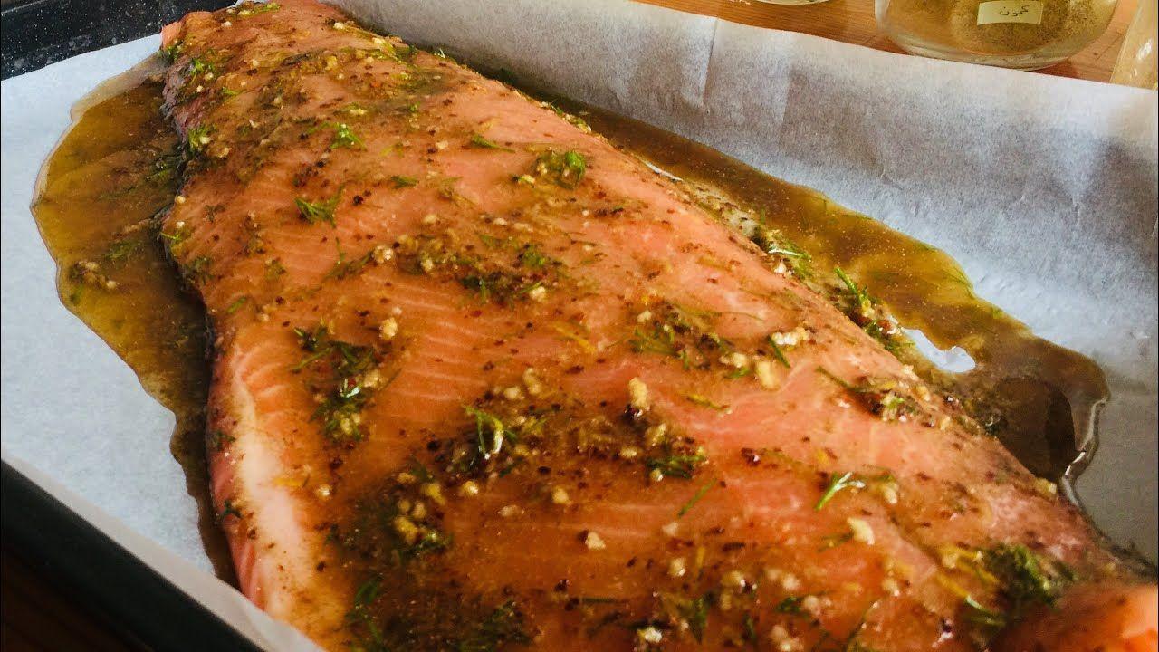طريقة عمل سمك السلمون