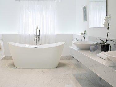 Fritstående Badekar Hvid ANTIGUA | French bathroom, Bathtub