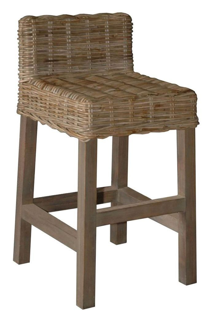 Bon Wicker Counter Stool With Low Back