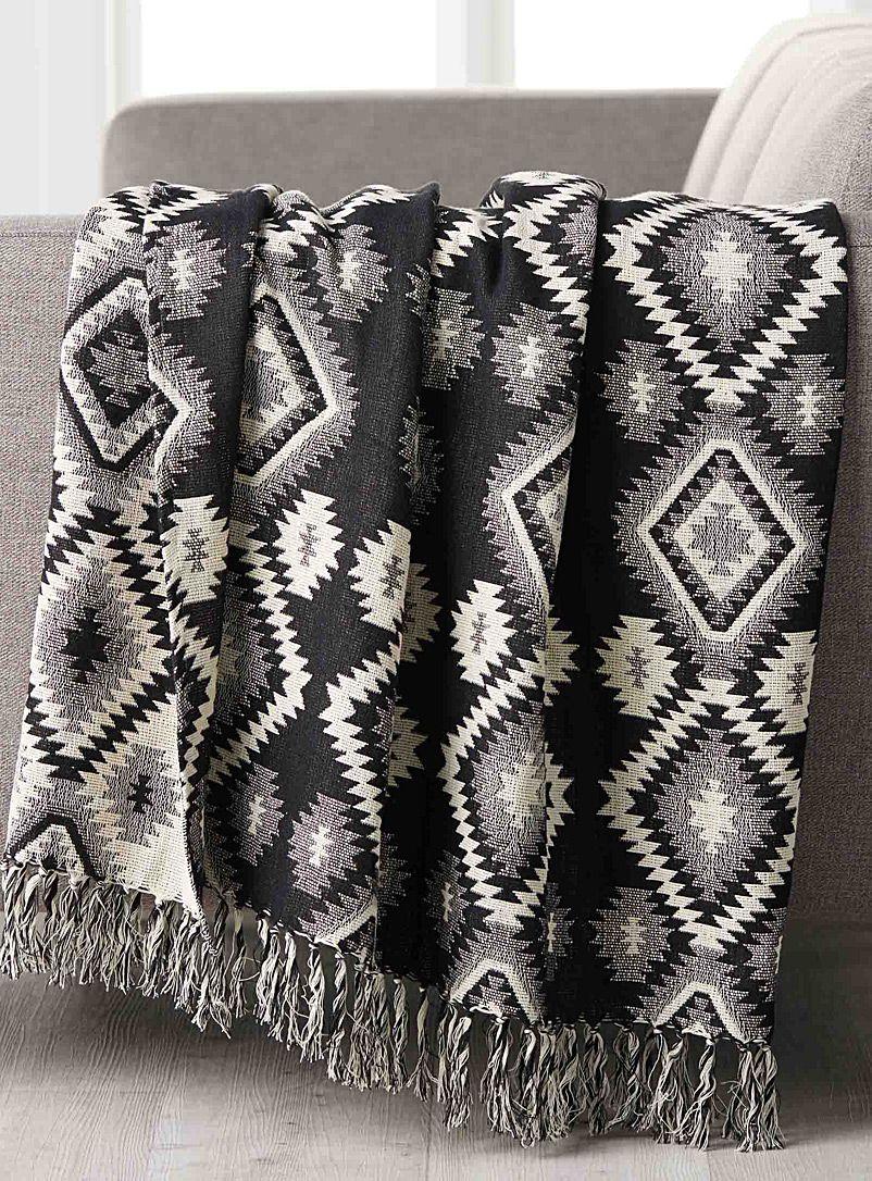 le jet tiss esprit aventurier 50x70 pouces danica couvertures et jet s en laine coton et. Black Bedroom Furniture Sets. Home Design Ideas