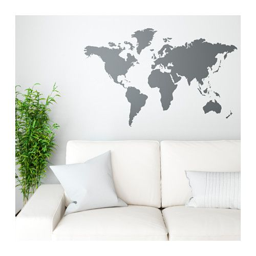Kltta decorative stickers blackboards and ikea hack ikea kltta decoration stickers blackboard world cm this world map is both a decorative picture and a handy blackboard for planning your next trip gumiabroncs Choice Image