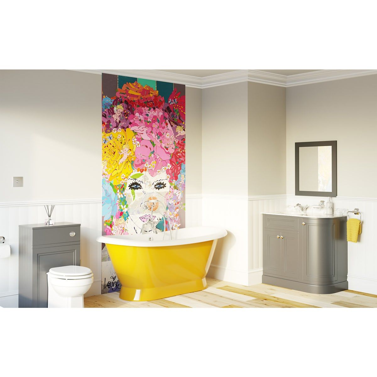 Louise Dear The Serenade Yellow bathroom suite with ...