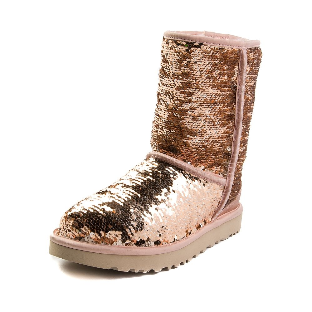 a57a3ae7f7c Womens UGG® Classic Short II Sequin Boot in 2019 | Rose Gold | Uggs ...