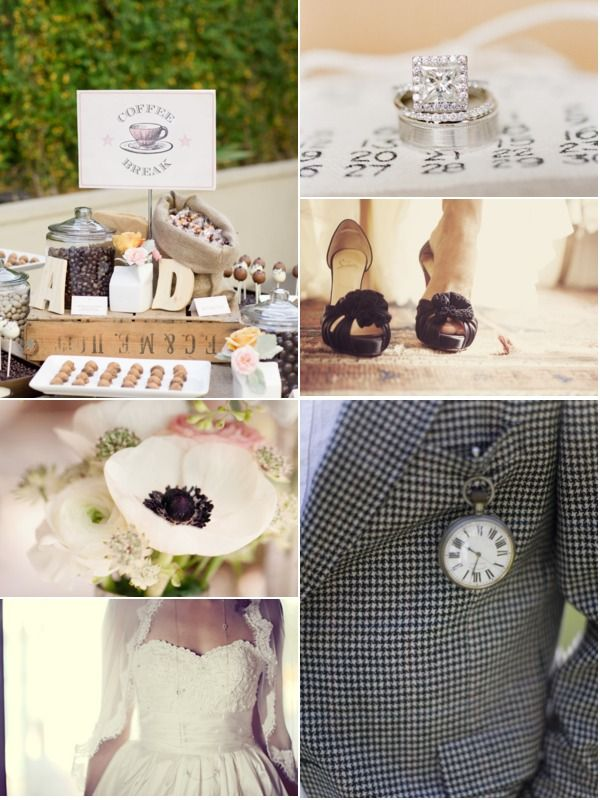 coffee and cream wedding