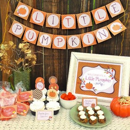 16 Ideas For Planning A Fall Baby Shower Baby Shower Fall Baby