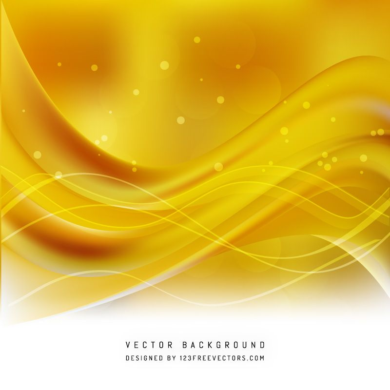 Yellow Wave Background Template | Free Vectors | Waves ...