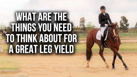 What are the things you need to think about for a great leg yield?