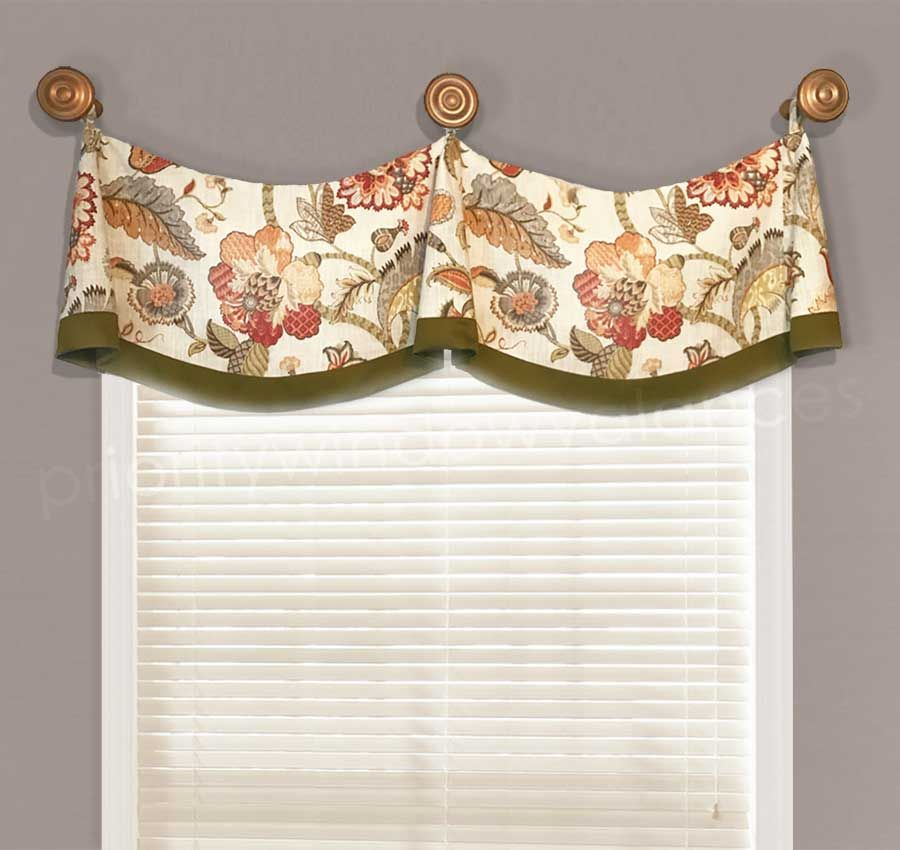 Medallion Swag Valance With Bells Valance Curtains Valance