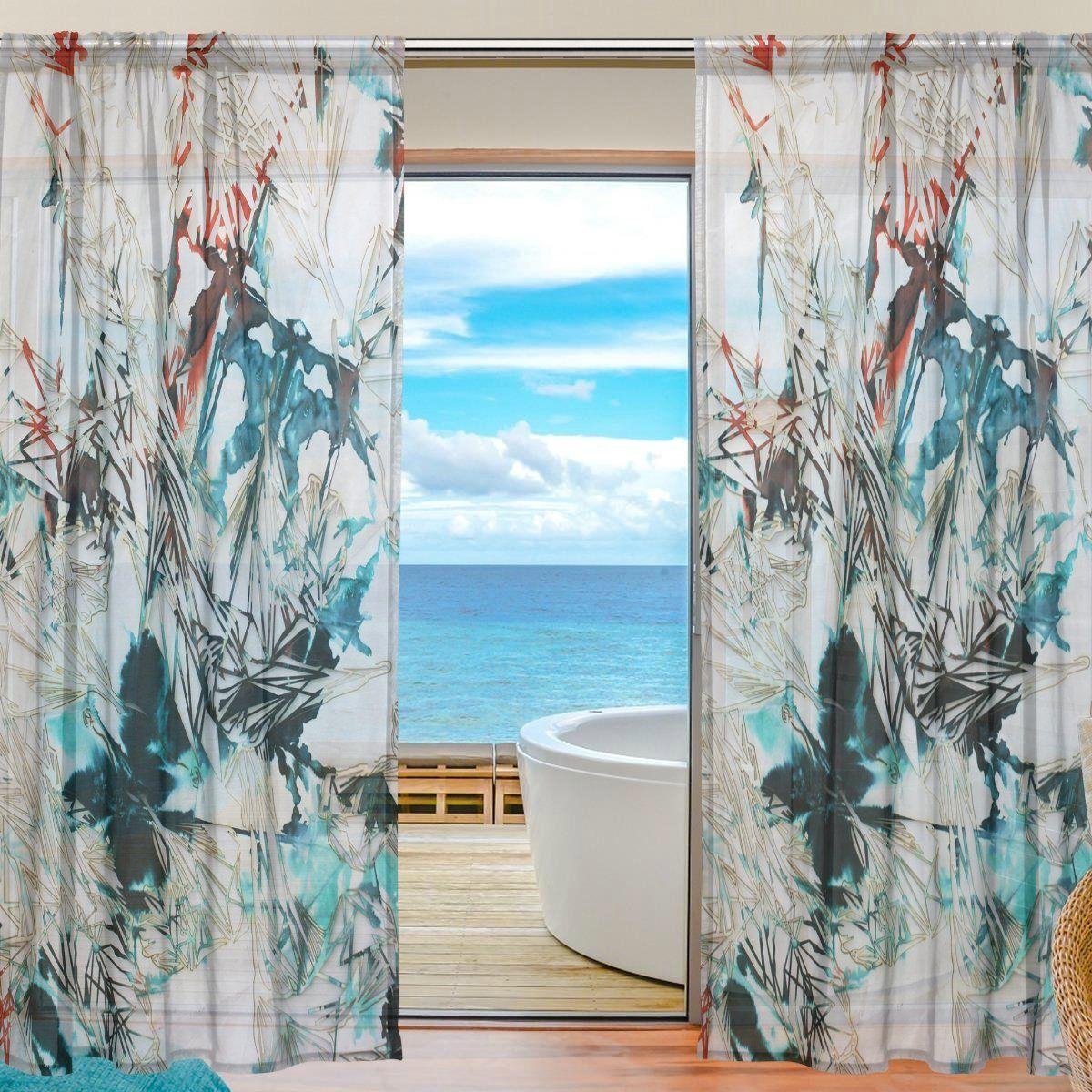 Deyya custom lasercut leaf sheer panel pair curtains ux