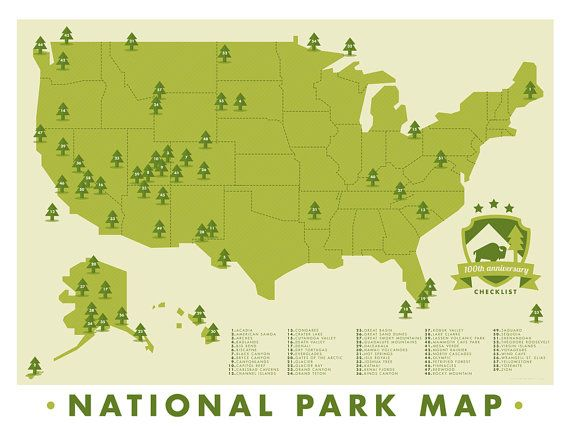 National Park Map Of America Is A Piece Designed For Those Who - Map of united states national parks