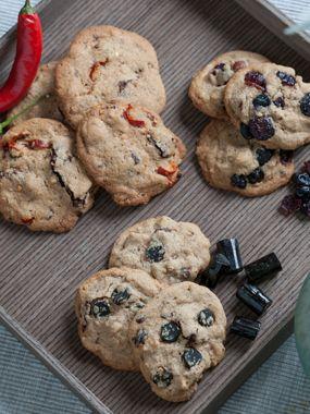 Cookies med 3 slags fyld