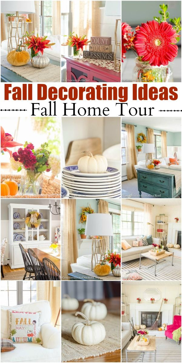 Colorful Fall Decorating Ideas Our Fall Home Tour Home Tours