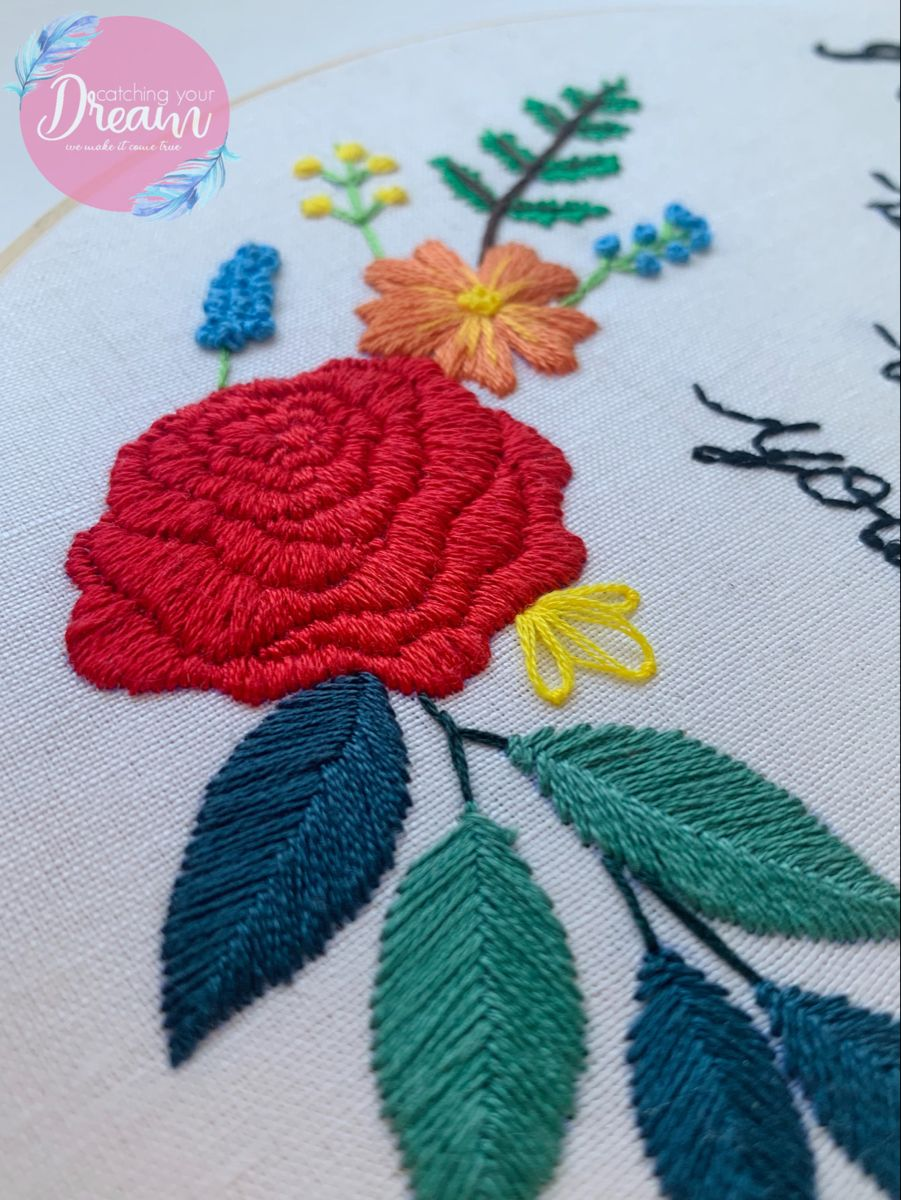#embroidery #handembroidery #embroideryflowers #embroideryrose #colorfulembroidery