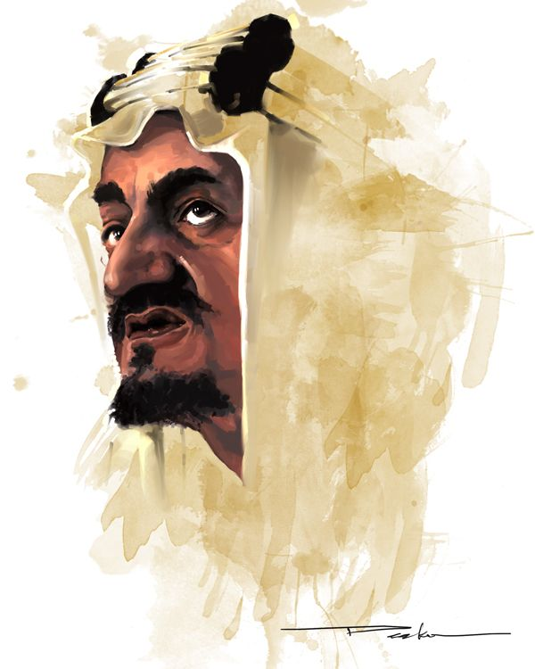 Al Faisal By Deek Mantoof On Deviantart Portrait Drawing Arabic Art Islamic Art