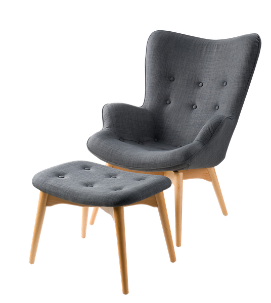 Great Gray Mid Century Modern Chair And Ottoman   See More At: Https:/