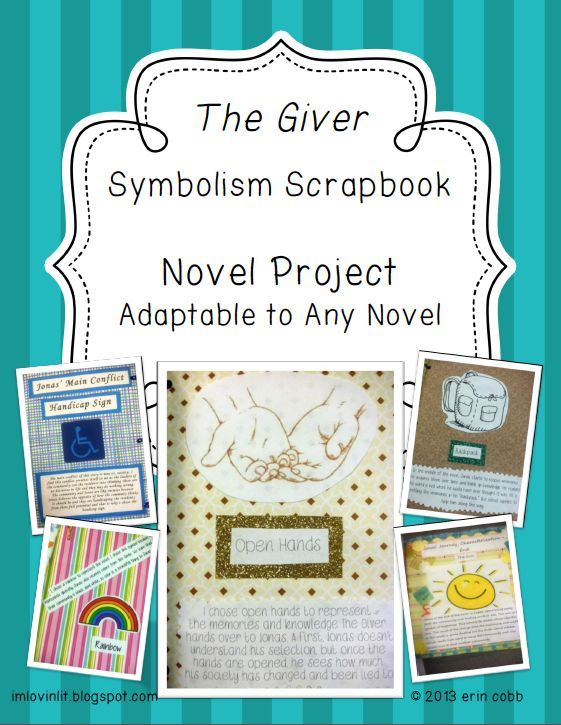Free Symbolism Scrapbook Novel Project For The Giver Or Any Class